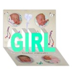 ava - GIRL 3D Greeting Card (7x5)