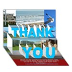 cbthanks - THANK YOU 3D Greeting Card (7x5)