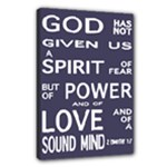 Present - 2 Timothy 1:7 - Canvas 18  x 12  (Stretched)