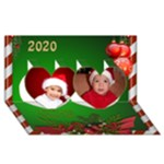 The Christmas Heart 3D Card 2018 - Twin Hearts 3D Greeting Card (8x4)