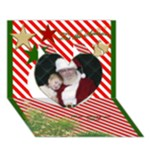 Tis the Season 3d Heart Christmas Card - Heart 3D Greeting Card (7x5)
