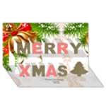 Bells Christmas 3D Card - Merry Xmas 3D Greeting Card (8x4)