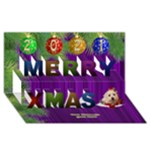 It is a Merry Christmas 3D Card - Merry Xmas 3D Greeting Card (8x4)