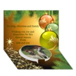 Greg and Christine 3d Card - Circle Bottom 3D Greeting Card (7x5)