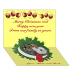 Our Children Christmas Card - Circle Bottom 3D Greeting Card (7x5)