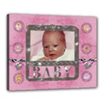 Baby Girl 20x16  Stretched Canvas - Canvas 20  x 16  (Stretched)