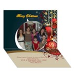 Red and Gold 3D circle Christmas Card - Circle 3D Greeting Card (7x5)
