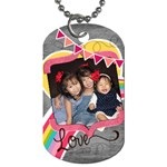 1 sided girls - Dog Tag (One Side)
