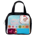 kids happy , gun, baby, happy holiday - Classic Handbag (One Side)