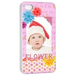 flower, kids , happy - iPhone 4/4s Seamless Case (White)