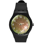 gray bling bling  watch (WITH OR WITHOUT YOUR PHOTO) - Round Plastic Sport Watch (M)