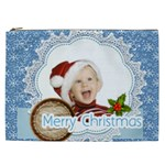 merry christmas, xmas, happy new year  - Cosmetic Bag (XXL)
