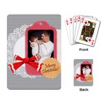 merry christmas, happy new year, xmas - Playing Cards Single Design (Rectangle)