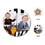 zoo kids - Playing Cards (Round)