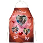 Hearts & Butterfly Full Print Apron