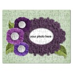 Shabby chic Purple Flowers puzzle - Jigsaw Puzzle (Rectangular)