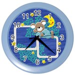 Sweet dreams my little boy Blue Clock - Color Wall Clock