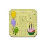 Happy bithday coasters - Rubber Square Coaster (4 pack)