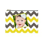 chevron yellow brown - Cosmetic Bag (Large)