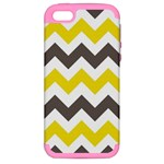 chevron yellow grey - Apple iPhone 5 Hardshell Case (PC+Silicone)