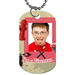 fireman, kids - Dog Tag (One Side)