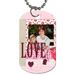 kids, love - Dog Tag (One Side)