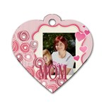 mothers day - Dog Tag Heart (One Side)