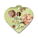 kids, love, happy, play, fun, child - Dog Tag Heart (One Side)
