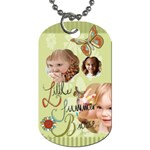 kids, love, happy, play, fun, child - Dog Tag (Two Sides)