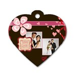 love,memory, happy, fun  - Dog Tag Heart (One Side)