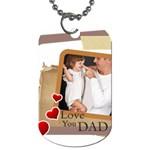 fathers day - Dog Tag (Two Sides)