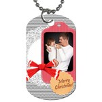 merry christmas, xmas, happy new year  - Dog Tag (Two Sides)