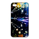 I phone4/4s case - abstract scene - iPhone 4/4s Seamless Case (Black)