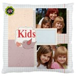 kids, fun, child, play, happy - Large Cushion Case (One Side)