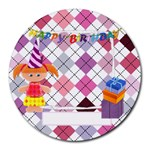 Happy Birthday For Her Round Mousepad - Collage Round Mousepad