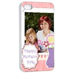 mothers day - iPhone 4/4s Seamless Case (White)