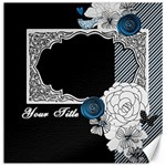 Flourished Frame Canvas Set - Canvas 12  x 12