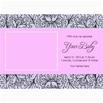 Hunny Bunny Girl Birth Announcement 03 - 5  x 7  Photo Cards