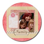 mothers day - Round Mousepad