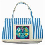 Inspirational tote 5 - Striped Blue Tote Bag