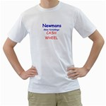Newmans Tshirts Cash Wheel - Men s T-Shirt (White) (Two Sided)