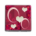 I Heart you Pink memory card reader - Memory Card Reader (Square 5 Slot)