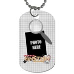 Learn Discover Explore Dog Tag 3 - Dog Tag (One Side)