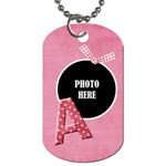Sweetie Alphabet Tag 1 - Dog Tag (One Side)