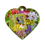 Orchid flowers heart 2013 dog tag  - Dog Tag Heart (Two Sides)