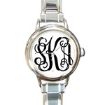 stephanies watch - Round Italian Charm Watch