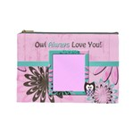 large bag - owl 2 - Cosmetic Bag (Large)