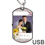 wedding - Dog Tag USB Flash (Two Sides)