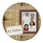 fathers day - Collage Round Mousepad