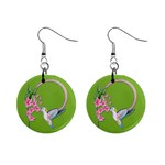 Humming Bird Earrings - 1  Button Earrings